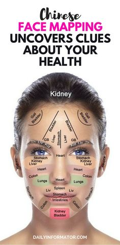 Reading faces to detect diseases was a common practice among Chinese healers for centuries. Facial skin gives insight into the health of your internal problems faster than other parts of the body. Chinese Face Map, Chinese Face Reading, Doterra Acne, Anti Aging, Natural Hair Mask, Face Mapping, Acne Skin, Acne Face, Skin Problems