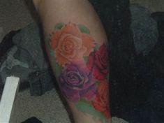 More shots of my rose leg sleeve Realistic Rose Leg Tattoo Sleeve Tattoos For Women, Tattoos For Women Small, Foot Tattoos, Girl Tattoos, Celestial Tattoo, Realistic Rose, Rosen Tattoos, Flower Skull, Elephant Tattoos