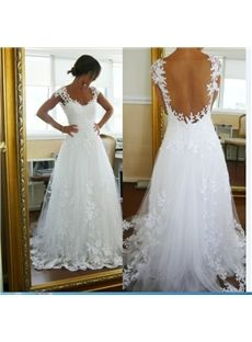 Charming A Line Floor Length Wedding Dress & casual Wedding Dresses