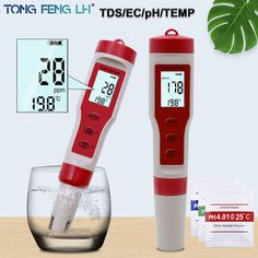ALL TDS PH EC TEMP 4 in 1 Multifunctional Tester Water Quality Detector Save this photo on your board if you ❤️ it.