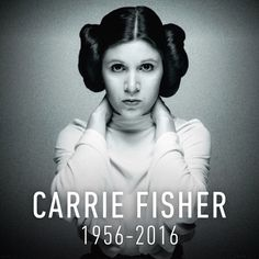 """starwars: """"""""Carrie holds such a special place in the hearts of everyone at Lucasfilm it is difficult to think of a world without her. She was Princess Leia to the world but a very special friend to all of us. She had an indomitable spirit, incredible..."""