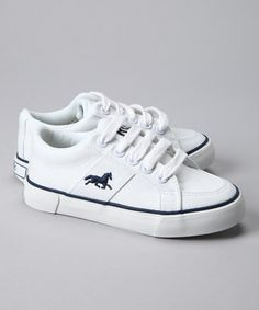 Take a look at this The Riding Club White Sneaker  by Summer Camp Kicks: Kids' Footwear on #zulily today!
