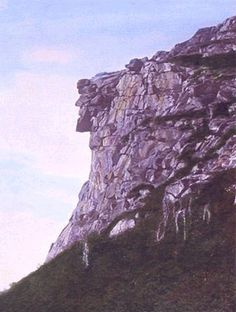 The Old Man of the Mountain, Franconia Notch, NH. Gone, but never forgotten....