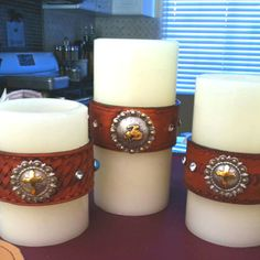 Candles I made - cowgirl style