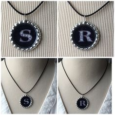 "Initial S"" or ""R""~Cord Necklace 18"" New ""Initial"" Letters ""S"" or ""R""~18"" Black Cord Necklace New (ALL Letters Available) Cord Necklace Jewelry Necklaces"
