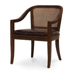CANE BACK CAPTAINS CHAIR by PALECEK