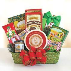 Holiday Snacks Gift Baskets ~ Evergreen Holiday Snacks Gift Basket at Gift Baskets Etc