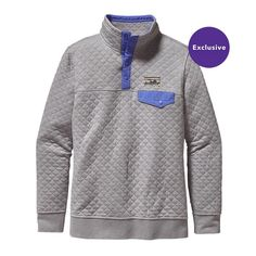 Patagonia Women\'s Cotton Quilt Snap-T\u00AE Pullover - Drifter Grey DFTG