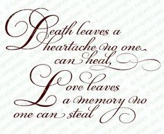 Death Leaves A Heartache Word Art