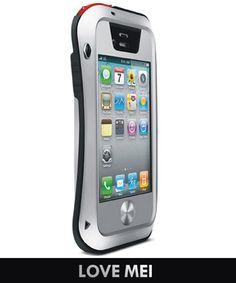 LOVE MEI Powerful Case iPhone 4/4S Zwart Zilver