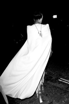 Daphne Guinness shows what true swagger is, as she exits a dinner party thrown by Tom Ford and Dylan Jones for the London menswear collections.   Thanks, James St. James!