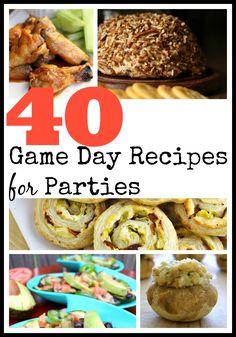 40 Game Day Recipes for Parties | SavingSaidSimply.com