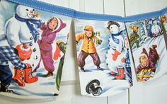 Frosty the Snowman Bunting - so cute with any vintage children's book!