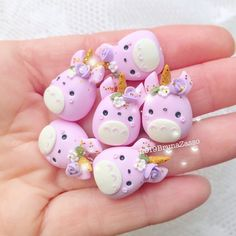 Totoro Unicorn Charms Charm ~ Cute kawaii fimo Polymer Clay Handmade b… Fimo Kawaii, Polymer Clay Kawaii, Polymer Clay Charms, Totoro, Diy Clay, Clay Crafts, Biscuit, Girls Anime, Cute Clay