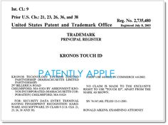 US Rejects Apple Touch ID Trademark