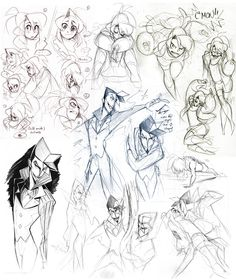 Character sketches from Nargyle