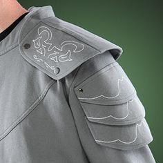 ThinkGeek :: Medieval Knight Hoodie sleeves detail
