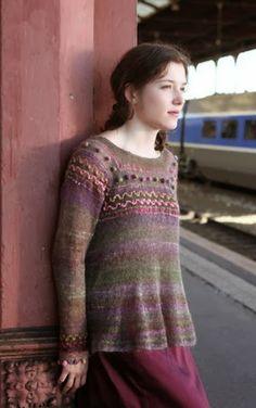 Dziana Moda: Bluzka z cieniutenkiej angorki Intarsia Knitting, Knitting Stitches, Knitting Patterns, Textiles, Knit Fashion, Crochet Clothes, Knitwear, Knit Crochet, Fashion Beauty