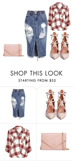 """""""Untitled #22"""" by arnela77 ❤ liked on Polyvore featuring One Teaspoon, Valentino, River Island, Tory Burch, women's clothing, women, female, woman, misses and juniors"""