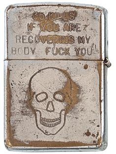 zippos from vietnam war: A collection of engraved Zippo lighters from soldiers of the Vietnam War recently sold at auction for over $30,000.