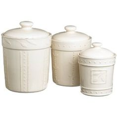 Signature Housewares Sorrento Set of 3 Canisters