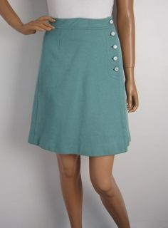 Vintage 1960s Green Wrap Around Mini Skirt available to buy online at Virtual Vintage Clothing £16