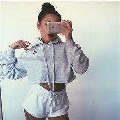Female Sweatshirt Women Jumper Cutout Crop Hoodie Harajuku BTS Tumblr Top 2016 Fashion Grunge Korean Pullover Female