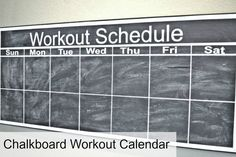 Chalkboard Workout Calendar and Silhouette Giveaway - Dream Design DIY