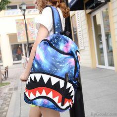 Harajuku Galaxy Minion National Flag Cartoon Shark Teeth College Backpack only… Cute Backpacks, Girl Backpacks, School Backpacks, Galaxy Backpack, Lace Backpack, Fashion Bags, Fashion Backpack, Retro Watches, Backpack For Teens