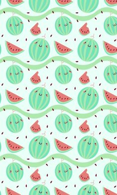 New fruit wallpaper kawaii Ideas Whats Wallpaper, Kawaii Wallpaper, Cool Wallpaper, Mobile Wallpaper, Pattern Wallpaper, Cute Backgrounds, Cute Wallpapers, Wallpaper Backgrounds, Iphone Wallpaper