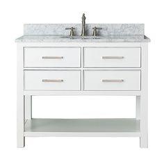 Brooks White 42 Inch Vanity Only Avanity Vanities Bathroom Vanities Bathroom Furniture
