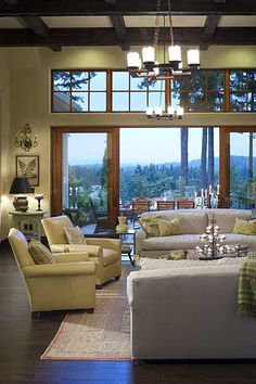 LOVE these windows, and make those huge sliding doors to bring the outside in.
