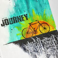 In this art journal page I celebrate the journey of life - to wander, to explore and to discover - rather than the destination