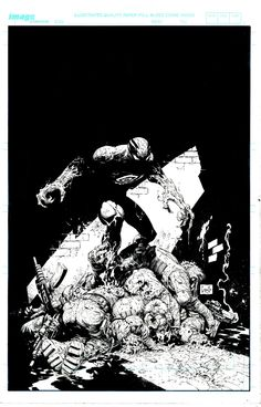 Haunt #9 Cover - Pencils - Greg Capullo Inks - Jonathan Glapion.  I've been watching videos with Jonathan Galpion lately, dude's incredible.