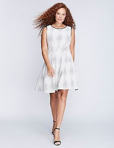 We love the thicker (i.e., forgiving) fabric on this Julia Jordan dress. Plus--the texture. The fit & flare silhouette. The curve-enhancing seaming and pleats. Yep, this will be your new fave. Hidden back zipper with hook-and-eye closure. lanebryant.com