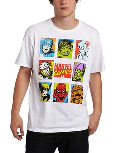 Marvel Team Ups Style Covers White T-Shirt, Small
