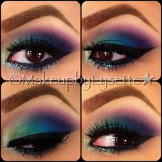 Peacock makeup thems some crazy eyebrows Pfau Make-up, Peacock Eye Makeup, Crazy Eyebrows, Beauty Makeup, Hair Makeup, Makeup Art, Beauty Tips, House Of Lashes, Creative Makeup