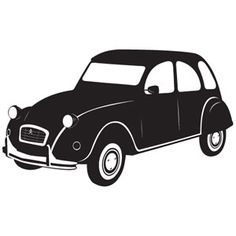 Wallsticker Citroën 2CV