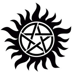 Supernatural anti-possession symbol decal by GlamGlitters on Etsy