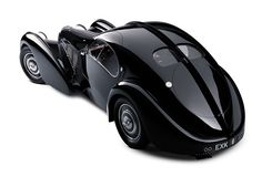 1938 Bugatti 57S Atlantic — one of the most stunning and rare cars ever built, with only four made. From the collection of Ralph Lauren.