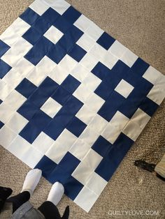 Quilty Love | Another solids charm quilt | http://www.quiltylove.com