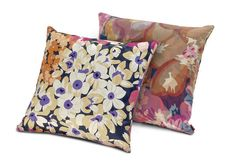 The Lobelia and Luz pillows by MissoniHome show off their pretty floral patterns.