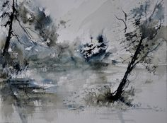 "Saatchi Art Artist: Pol Ledent; Watercolor 2014 Painting ""watercolor 413052"""