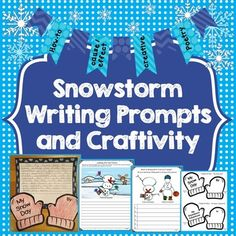 For those of us affected in any way by recent snowstorms, our students will surely be talking of nothing else! Let's help them put that energy toward creative writing. There are enough differentiated activities in this pack to keep them busy all through the winter!
