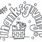 A fun worksheet to color or use as a pattern for a bulletin board or Thanksgiving card.  by Bunky Business...