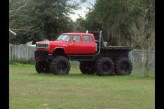 All terrain Massive Dodge Truck Ram Trucks, Dodge Trucks, Diesel Trucks, Lifted Trucks, Cool Trucks, Pickup Trucks, Lifted Chevy, Redneck Trucks, Muddy Trucks