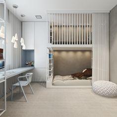 Stadthaus von Igor Sirotov Architect Visualisierte Babyzimmer