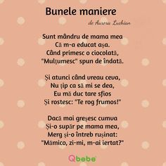 Bunele maniere 1 Kids Poems, Worksheets For Kids, Funny Pictures, Funny Pics, Parenting, Classroom, Teacher, My Love, Tips