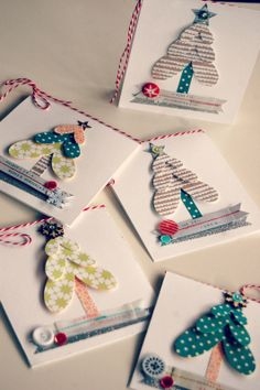 I began to make my little Xmas cards