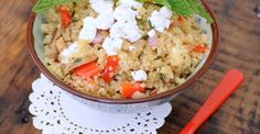 Savory Quinoa Salad with Goat Cheese